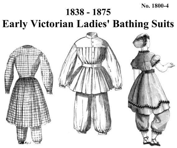 costumi da bagno 1800